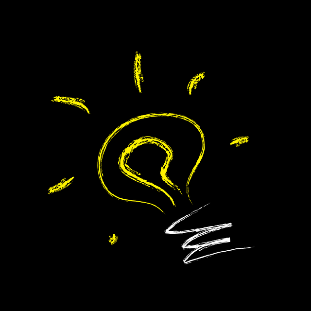 Image of a light bulb on a chalkboard for the blog post, How to Use Your Environment to Find Inspiration to Write, on Literative.com
