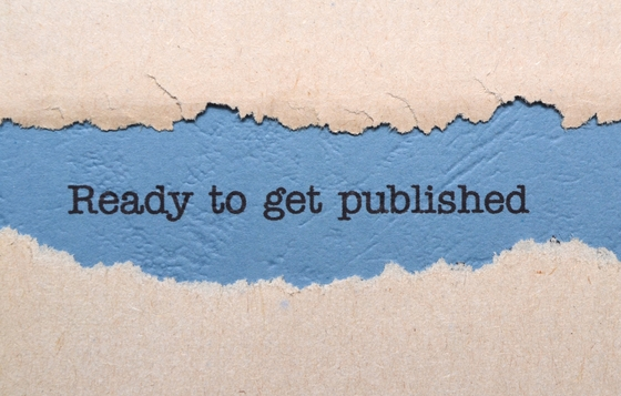 """Printed words: """"ready to get published"""""""