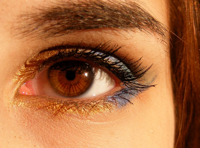 Photo of a brown eye for post on eye strain on Literative.com