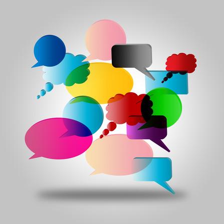 Speech Bubbles Representing Dialogue